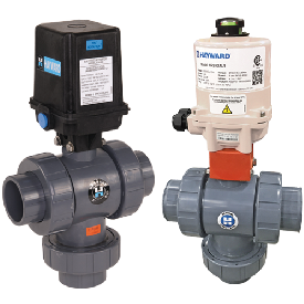 Image for Actuated Three-Way Ball Valves from Hayward Residential and Commercial Pool Products